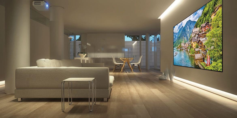 voorbeeld thuisbioscoop woonkamer