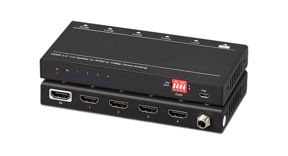 UltraSlim 4K HDMI® 1X4 Splitter w/ 4:4:4 Color Space & 18G