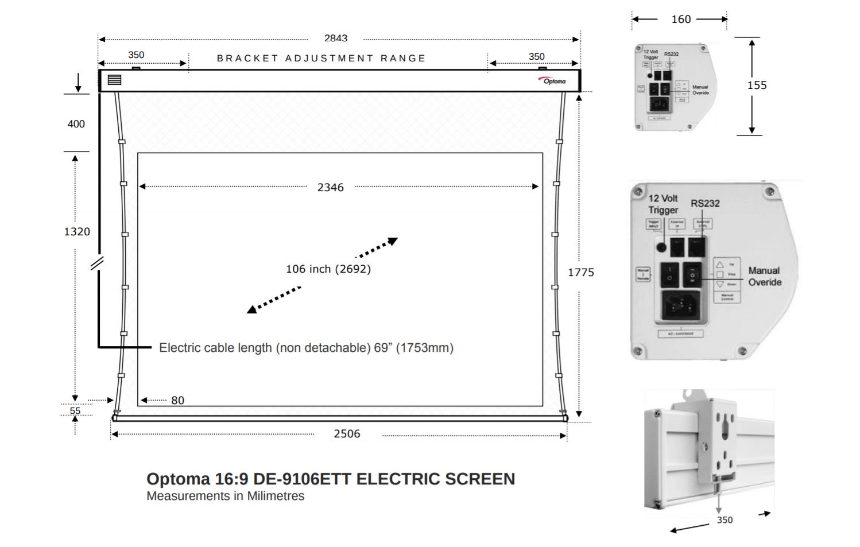 DE-91066ETT tekening met afmetingen