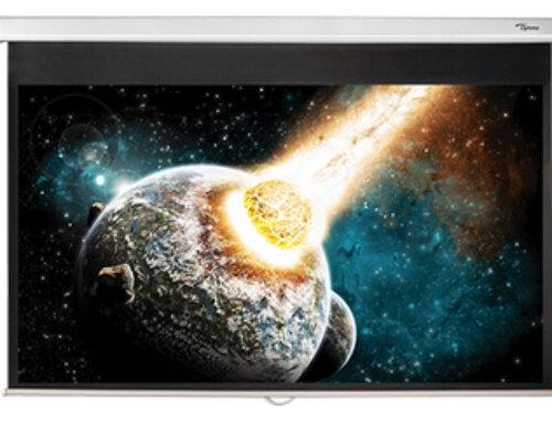 Optoma 84 inch handmatig trek projectiescherm €129,-
